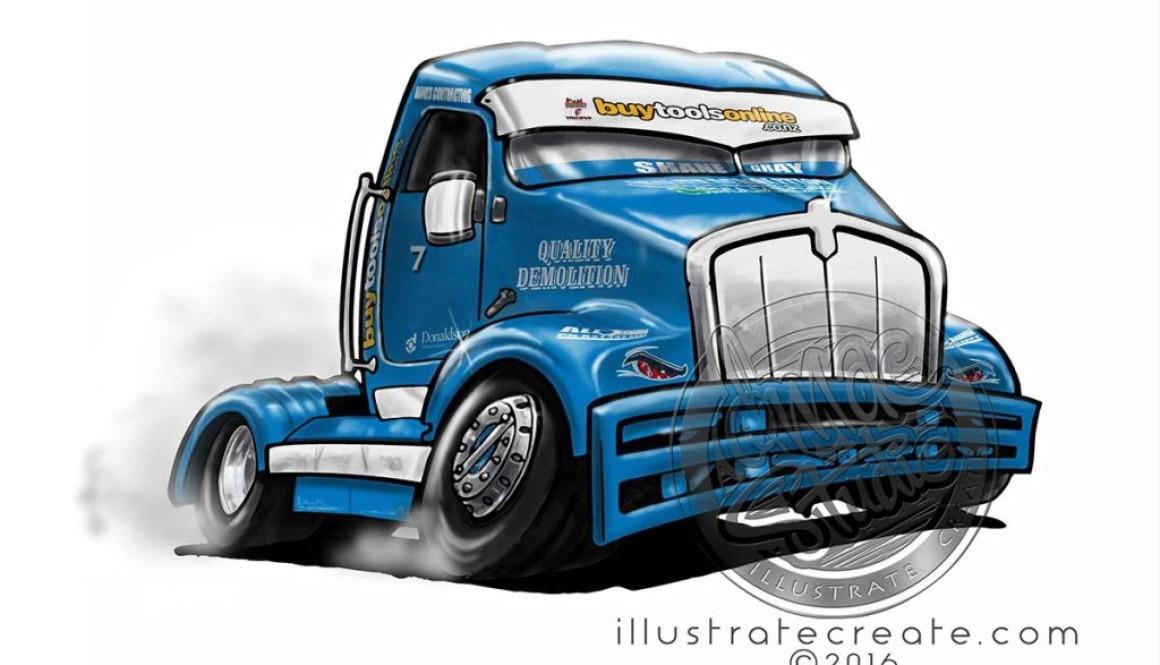 Race Truck cartoon